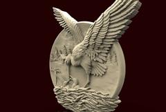 Силиконовый молд   Аист  (медальон)  № 0470