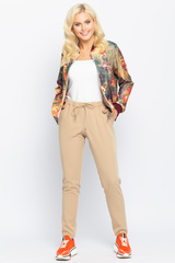 <p>Очень удобные летние брюки с карманами. Пояс на резинке. Обращаем Ваше внимание, в данной расцветке брюки укороченные. (Длина 90 см во всех размерах) .&nbsp;</p>