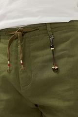 Лляні штани чінос з куліскою
