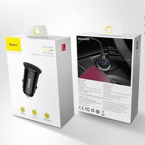 Автомобильная зарядка Baseus PPS 30W PD+USB /black/