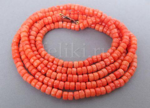 бусы из коралла (к-0916-6-130)