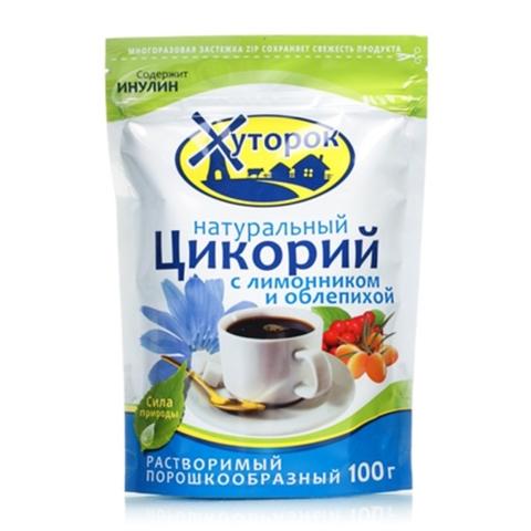 Напиток цикорий ХУТОРОК Лимон Облепиха 100 гр ДП РОССИЯ