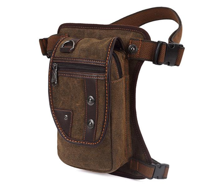 BAG397-2 Удобная набедренная мужская сумка из ткани фото 02