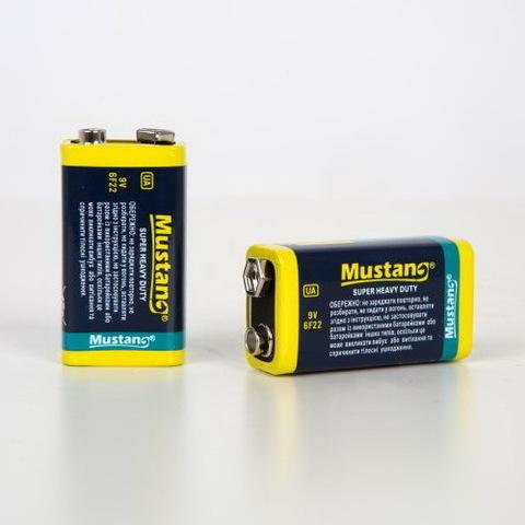 Батарейки Mustang 6F22, 9V крона (1/10)