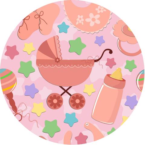 Печать на вафельной бумаге, С Новорожденным 10