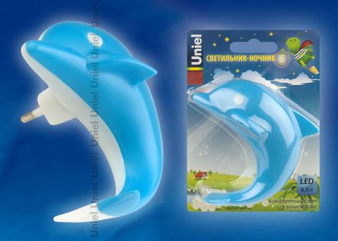 DTL-301-Дельфин/Blue/4LED/0,5W Светильник-ночник. Без выключателя. Блистер