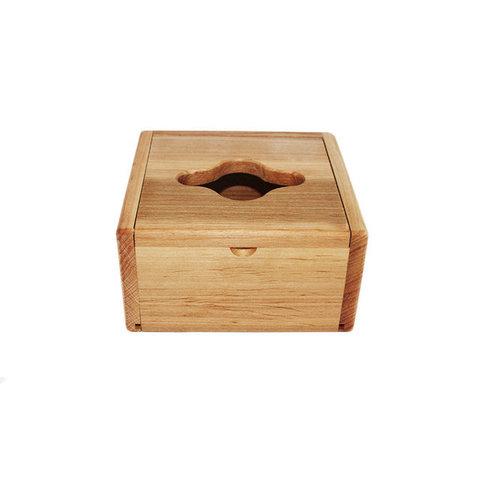 Диспенсер деревянный (куб) бамбуковый
