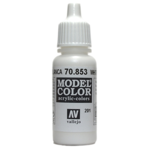 Model Color White Glaze 17 ml.
