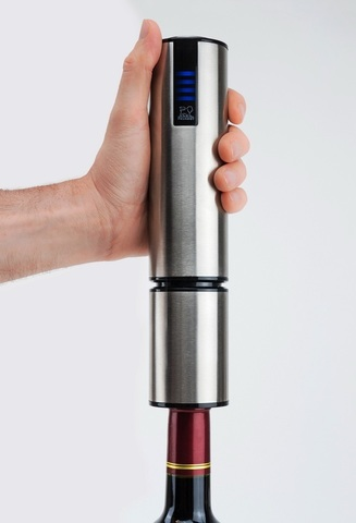 Штопор электрический сенсорный артикул 200497, цвет матовая сталь. Серия Elis Touch