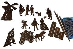 КОТ В САПОГАХ набор фигурок для театра теней