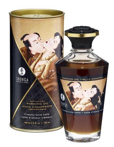 Интимное масло Shunga с ароматом сливочного латте - 100 мл.