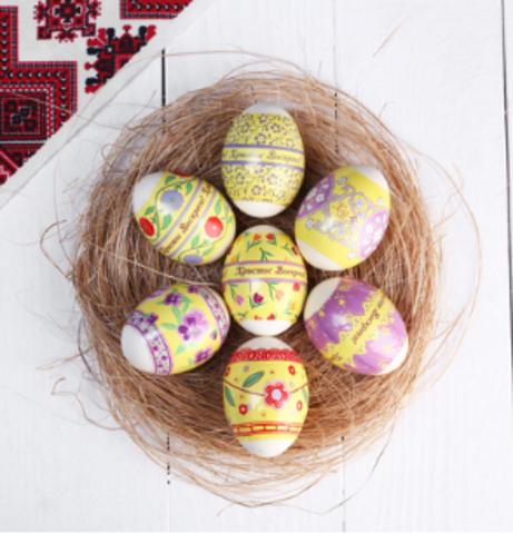 060-0022 Термонаклейки «Цветочный узор», на 7 яиц,