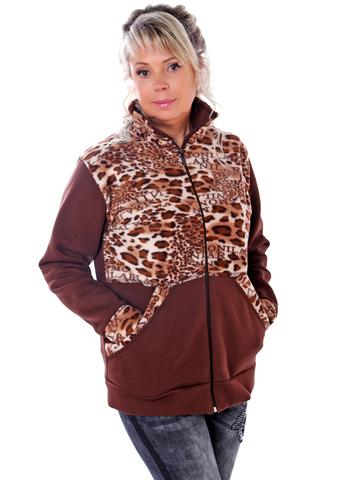 Куртка флис коричневая 3 нитка