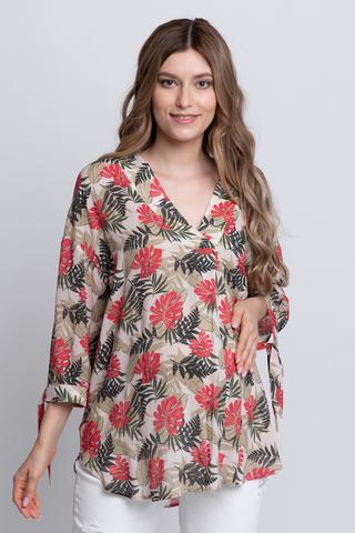 Блузка для беременных 12588 листья