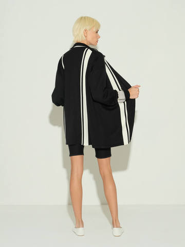 Женский жакет черного цвета из шелка и кашемира - фото 3