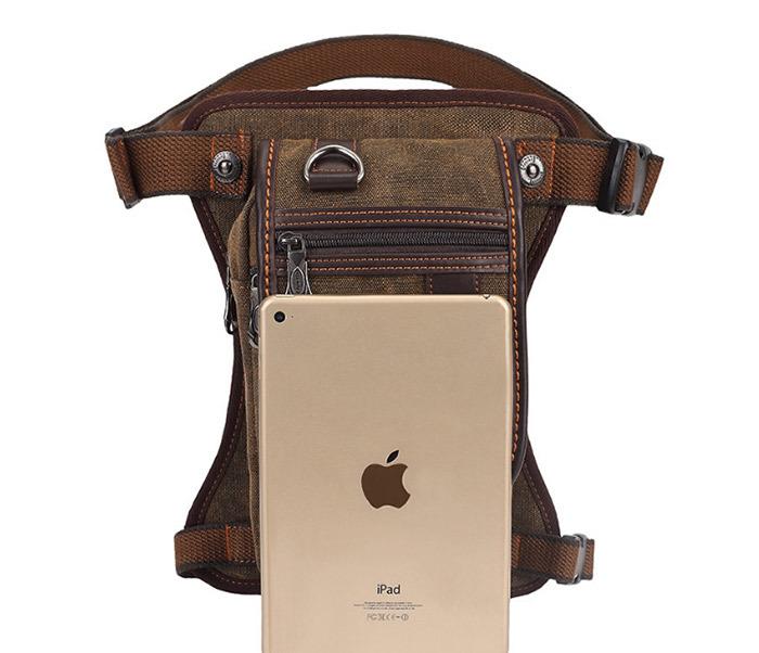 BAG397-2 Удобная набедренная мужская сумка из ткани фото 03