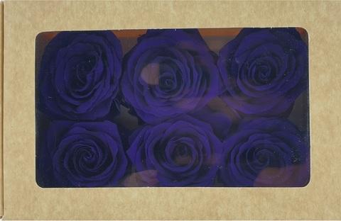 Стабилизированный Бутон Розы Optimum Flowers Standart . Цвет Фиолетовый (Диаметр 7см)