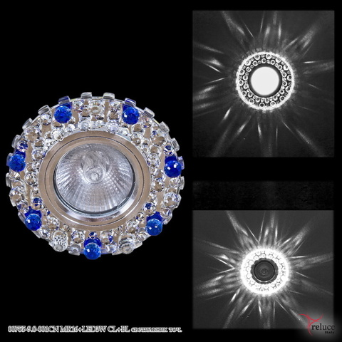 00755-9.0-001CN MR16+LED3W CL+BL светильник точ.