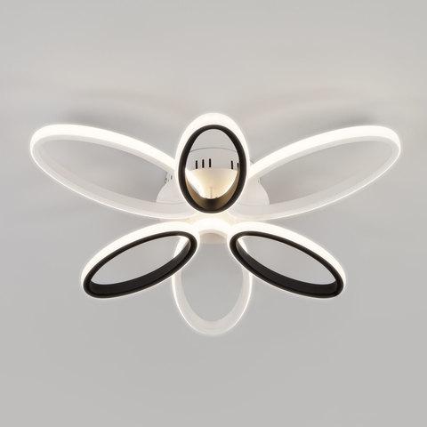 Светодиодный потолочный светильник EUROSVET 90137/6 белый/черный с Пультом