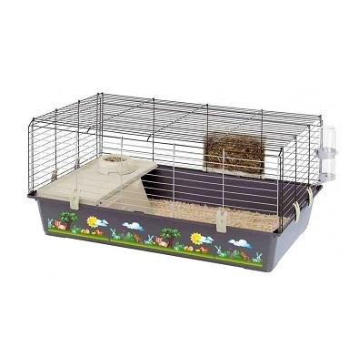 Клетки Клетка для кроликов и морских свинок, Ferplast RABBIT 100 DECOR 95 x 57 x h 46 см RABBIT_100.jpg