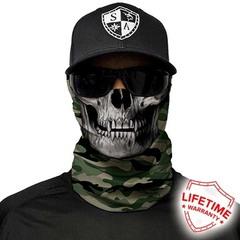 Бандана-труба череп SA Green Military Camo Skull