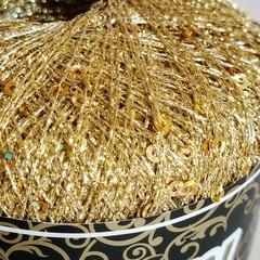 цвет gold / золотой люрекс с золотистыми пайетками