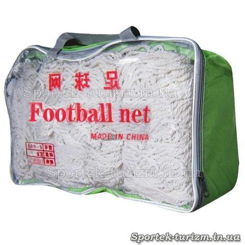 Сетка для футбольных ворот 7,3 на 2,44 м. Z-005 ячейка 15*15 см