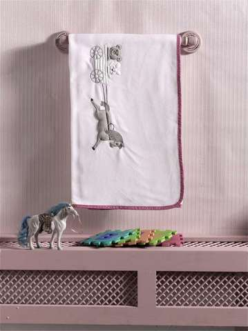 "Плед флисовый ""Little Farmer"", 100% полиэстер, размер 80*120 см (pink)"