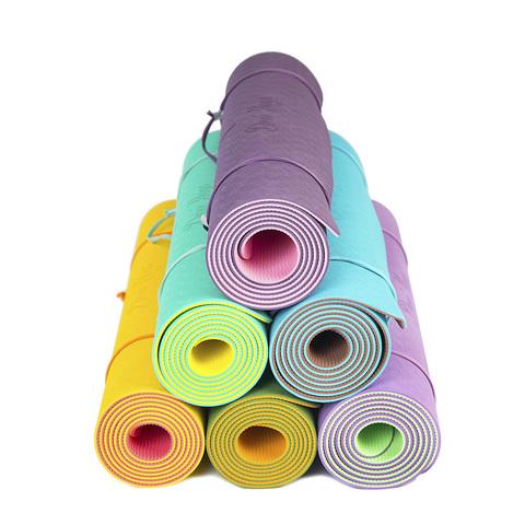 Коврик для йоги с разметкой Ежевика 183*61*0,5 см