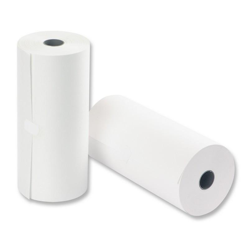 Ролик для телетайпов из газетной бумаги Promega fax 210 мм (диаметр 100 мм, намотка 150-152 м, втулка 26 мм)