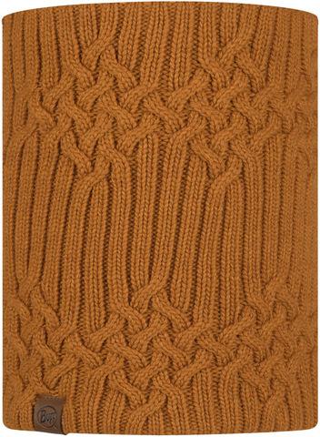 Вязаный шарф-труба с флисом Buff Neckwarmer Knitted Polar New Helle Mustard фото 1