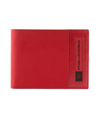 Кошелек Piquadro Bios, красный, 11x9x1,5 см