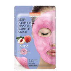 Maska \ Маска \ Mask PUREDERM Deep Purifying Pink O2 Bubble Mask Peach 25g * 1pcs