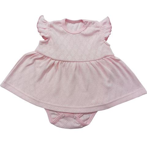 Папитто. Боди-платье Ажур, розовый