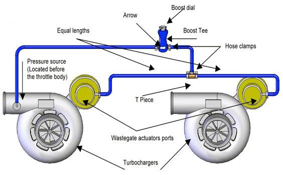схема подключения Механический буст-контролер