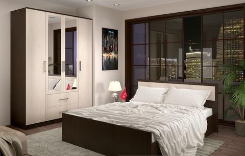 Кровать 0,9м Фиеста БТС Венге/лоредо