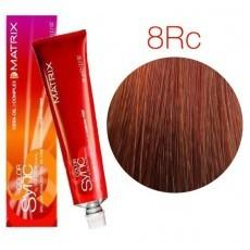 Matrix Color Sync: Red Copper 8RC светлый блондин красно-медный, крем-краска без аммиака, 90мл