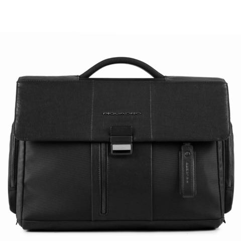 Портфель Piquadro Brief, черный, 41,5x30x14 см