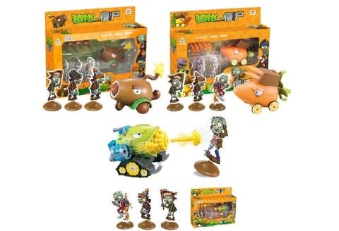 Растения против зомби набор игрушек с мишенью