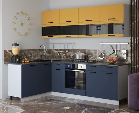 Кухня Угловая Техно NEW 1,6-2,4 м №1