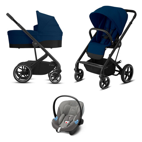 Детская коляска Cybex Balios S Lux BLK 3 в 1 Navy Blue