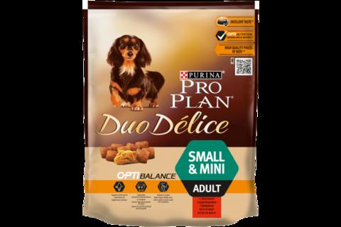 Сухой корм Purina Pro Plan DUO DELICE для взрослых собак мелких и карликовых пород с говядиной и рисом