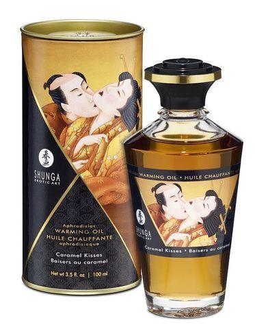 Массажное интимное масло Shunga с ароматом карамели - 100 мл.