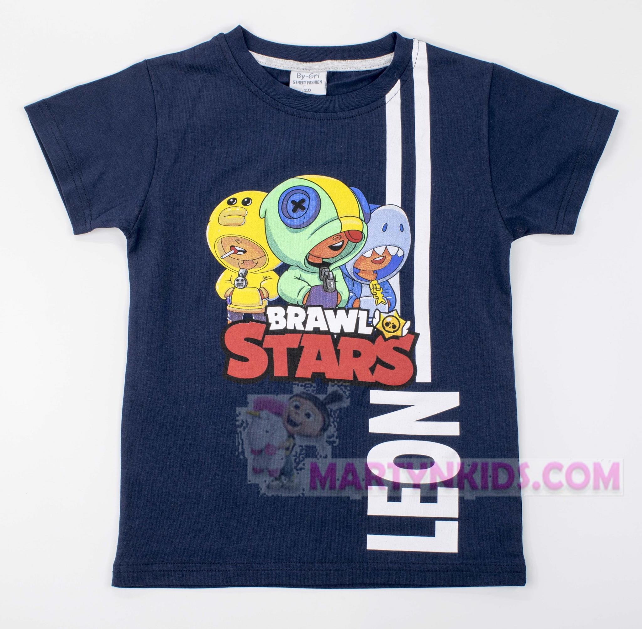 3202  футболка LEON BRAWL STARS