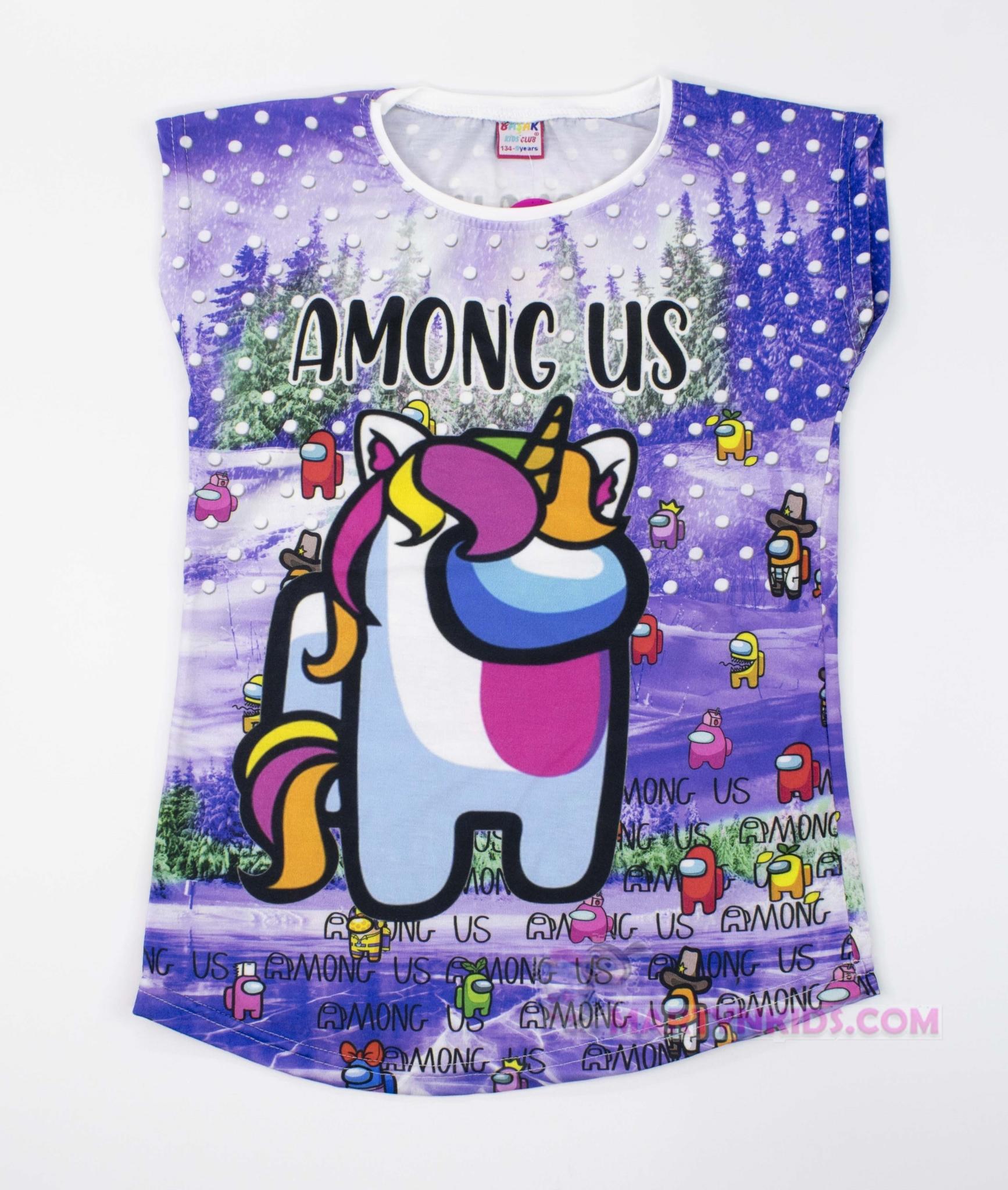 3447 футболка 3 D AMONG US Единорог