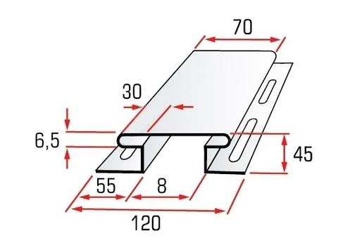 Тех.рисунок Н - профиль блок хауса Альта-Профиль