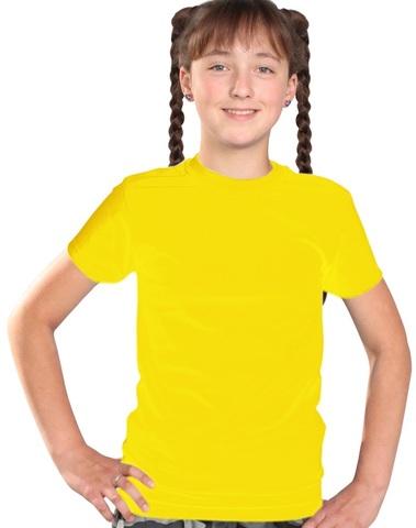 Футболка детская желтая