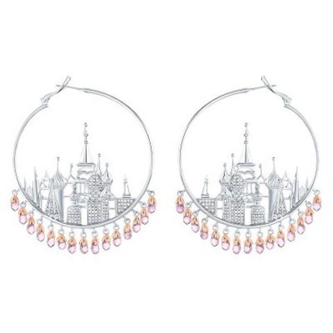 4749 - Серьги St Basil Cathedral  из серебра с розовыми, каплевидными цирконами
