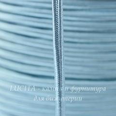 Сутаж, 4х1 мм, цвет - голубой, примерно 1 м
