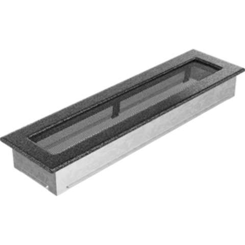 Вентиляционная решетка Черная/Серебро (11*42) 42CS